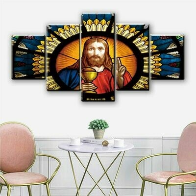 Cup Of Jesus Christ - 5 Panel Canvas Print Wall Art Set