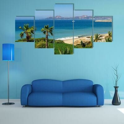 Beach And Coastline Of Cabo San Lucas - 5 Panel Canvas Print Wall Art Set