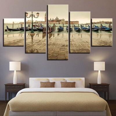 Best Italy - 5 Panel Canvas Print Wall Art Set