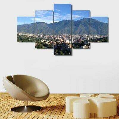 Avila Caracas Mountain - 5 Panel Canvas Print Wall Art Set