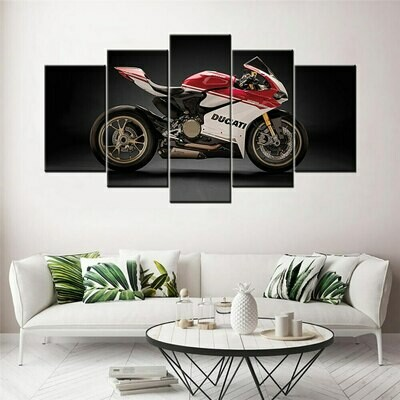 Ducati 1299 Panigale Motorcycle - 5 Panel Canvas Print Wall Art Set