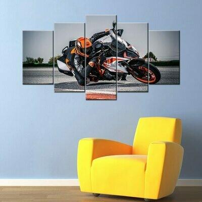 KTM 1290 Super Duke Super Motorcycle - 5 Panel Canvas Print Wall Art Set
