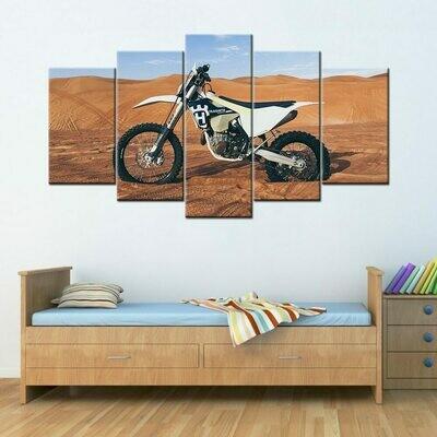 Husqvarna Super Bike - 5 Panel Canvas Print Wall Art Set