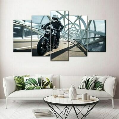 Husqvarna Vitpilen 701 Motorcycle - 5 Panel Canvas Print Wall Art Set