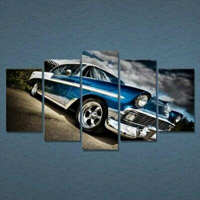 Car Chevrolet Bel - 5 Panel Canvas Print Wall Art Set