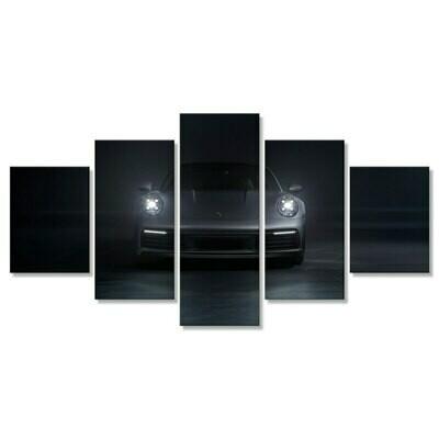 Car Porsches 911 Carrera - 5 Panel Canvas Print Wall Art Set