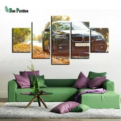 Cool Car - 5 Panel Canvas Print Wall Art Set