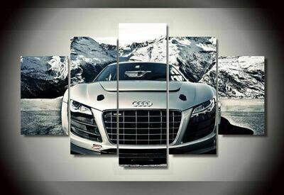 Audi Car - 5 Panel Canvas Print Wall Art Set
