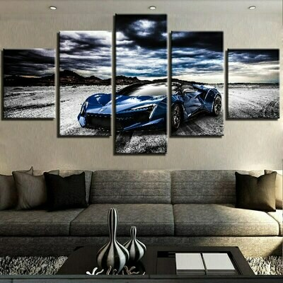 Cool Sports Car Pictures - 5 Panel Canvas Print Wall Art Set