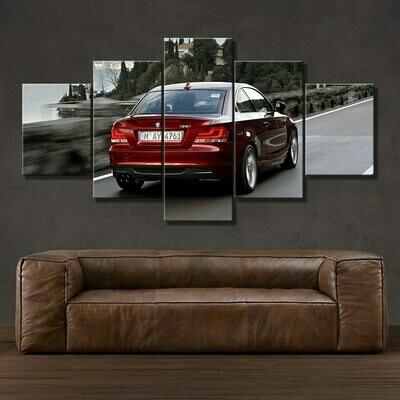 BMW I35 - 5 Panel Canvas Print Wall Art Set