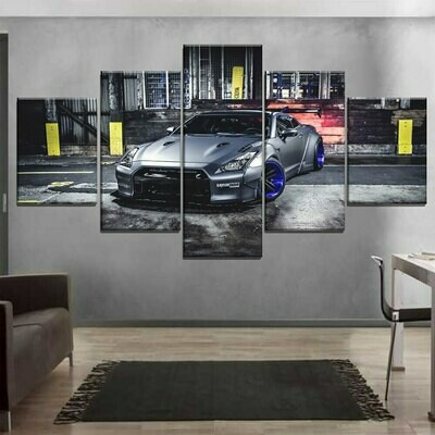 Cool Car Pictures - 5 Panel Canvas Print Wall Art Set