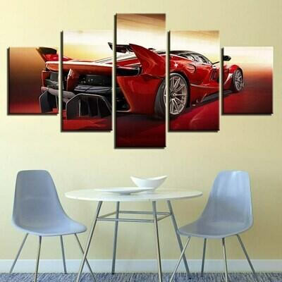Cuadros HD Sports Car - 5 Panel Canvas Print Wall Art Set