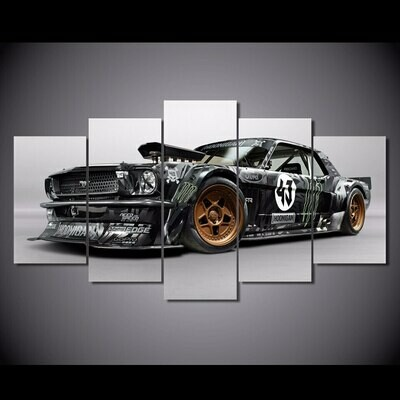 Ford Mustang Rtr Car - 5 Panel Canvas Print Wall Art Set
