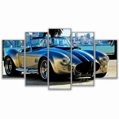 Ford Sports Car 1965 Shelby - 5 Panel Canvas Print Wall Art Set