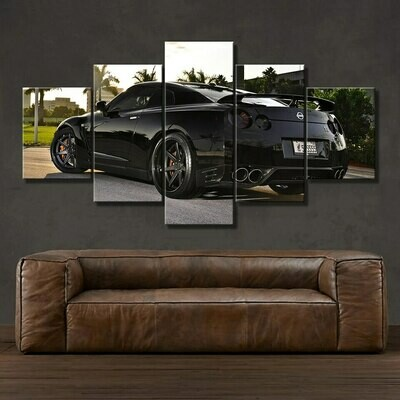 HD Nissan Skyline Posters - 5 Panel Canvas Print Wall Art Set