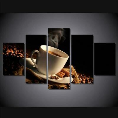 Coffe Beans - 5 Panel Canvas Print Wall Art Set
