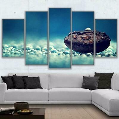 Coffee Dreamy Bean - 5 Panel Canvas Print Wall Art Set