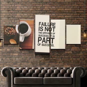 Failure And Success - 5 Panel Canvas Print Wall Art Set