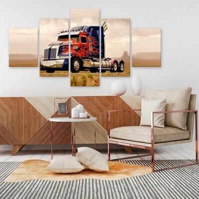 Truck Car- 5 Panel Canvas Print Wall Art Set