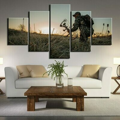 Hunting Abstract - 5 Panel Canvas Print Wall Art Set