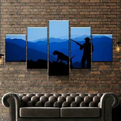 Dusk Hunt - 5 Panel Canvas Print Wall Art Set