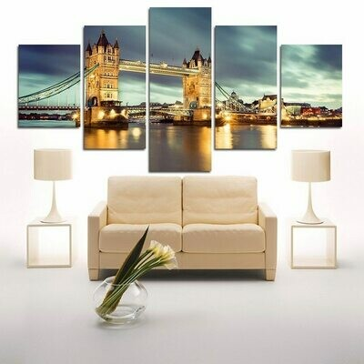 London Bridge - 5 Panel Canvas Print Wall Art Set