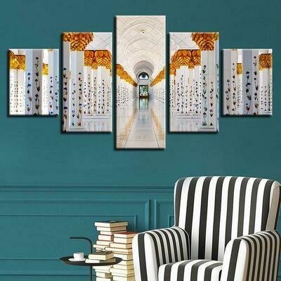 Islamic Church - 5 Panel Canvas Print Wall Art Set