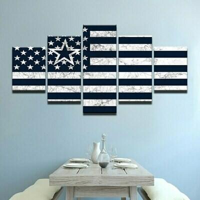 Flag Modular - 5 Panel Canvas Print Wall Art Set