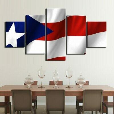 Modular National Flag - 5 Panel Canvas Print Wall Art Set