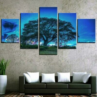 Big Trees - 5 Panel Canvas Print Wall Art Set