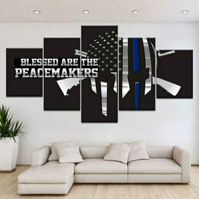 Hd American Flag - 5 Panel Canvas Print Wall Art Set