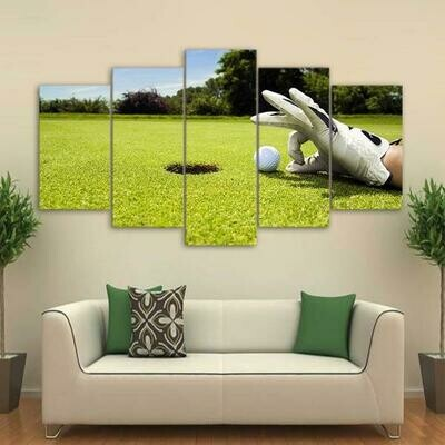 Golf Course - 5 Panel Canvas Print Wall Art Set