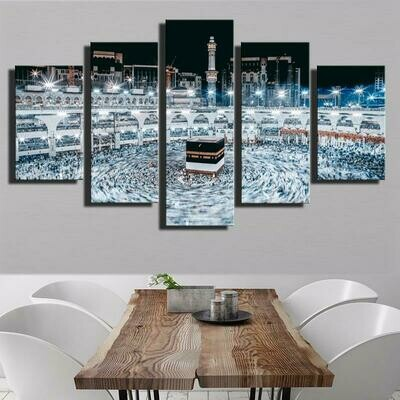 Religious Architecture Islamic - 5 Panel Canvas Print Wall Art Set
