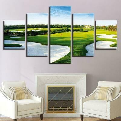 Golf Pot - 5 Panel Canvas Print Wall Art Set