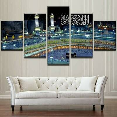 Islamic Mosque Castle - 5 Panel Canvas Print Wall Art Set