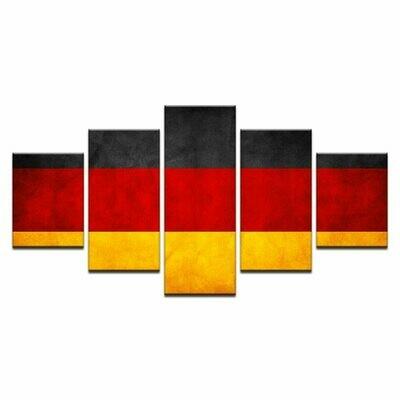 Modern German Flag - 5 Panel Canvas Print Wall Art Set