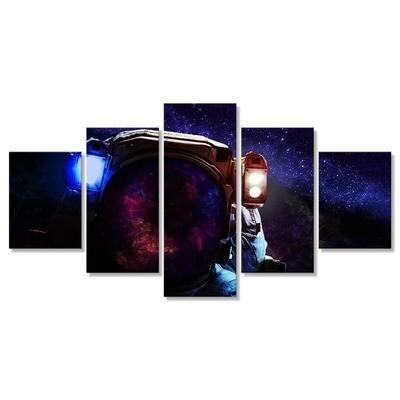 Astronaut Poster - 5 Panel Canvas Print Wall Art Set