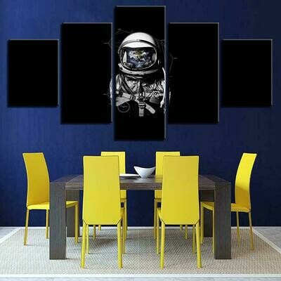 Landscape Astronaut - 5 Panel Canvas Print Wall Art Set
