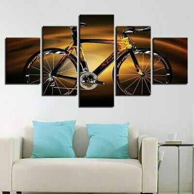 Bicycle Bike - 5 Panel Canvas Print Wall Art Set