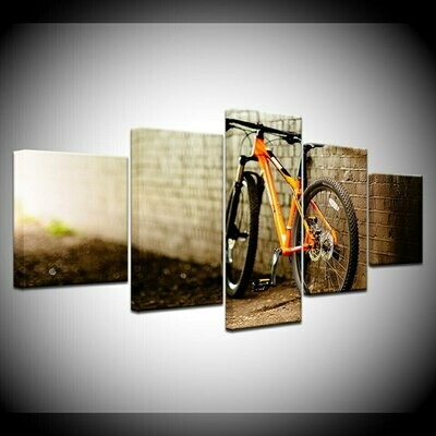 The Bicycle Wallpapers - 5 Panel Canvas Print Wall Art Set