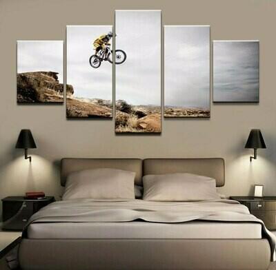 Bike Sport - 5 Panel Canvas Print Wall Art Set