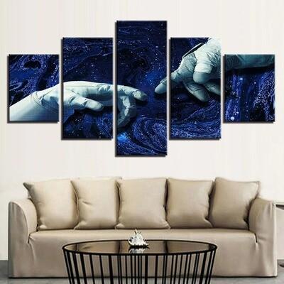 Universe Starry Sky - 5 Panel Canvas Print Wall Art Set