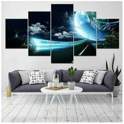 Diamond - 5 Panel Canvas Print Wall Art Set