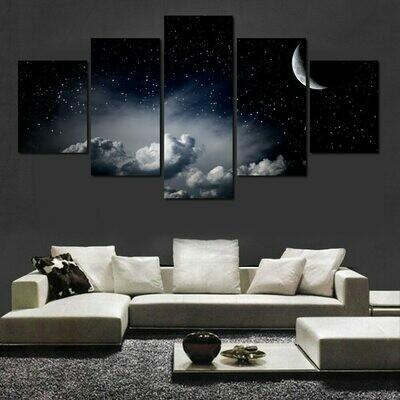 Cloud Landscape - 5 Panel Canvas Print Wall Art Set