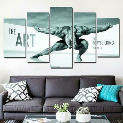 Art Of Bodybuilding Volume - 5 Panel Canvas Print Wall Art Set