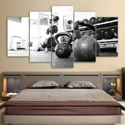 Russian Dumbbell - 5 Panel Canvas Print Wall Art Set