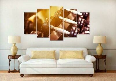 Crossfit Barbell - 5 Panel Canvas Print Wall Art Set