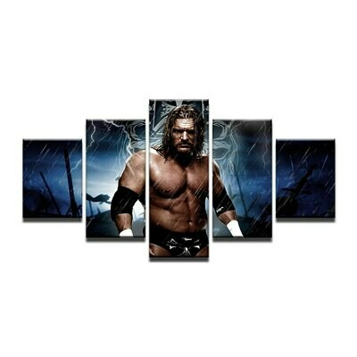 Muscle Man Bodybuilding - 5 Panel Canvas Print Wall Art Set