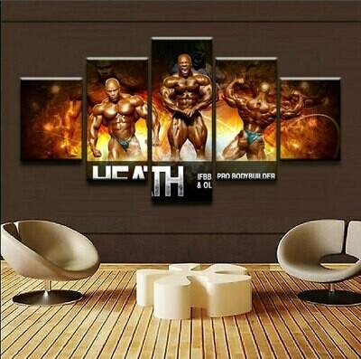 Sports Bodybuilding - 5 Panel Canvas Print Wall Art Set