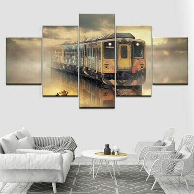 Train - 5 Panel Canvas Print Wall Art Set
